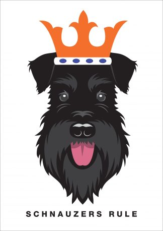 all black dog schnauzers rule poster