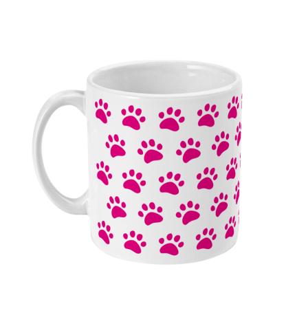 mug pink paws left view