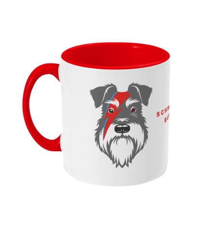 red mug bowie salt and pepper dog left view