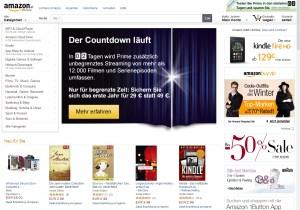 Bewerbung Amazon Prime auf amazon.at