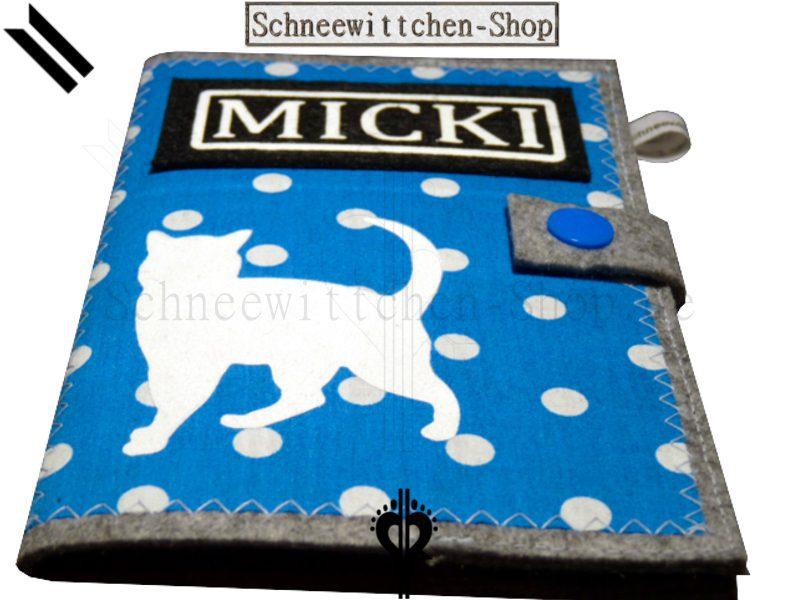 Katzenpasshülle Micki in blau