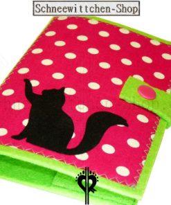 Katzenpasshüllen Moritz in pink-grün