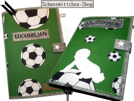 Mutterpasshülle und U-Hefthülle | Fussball Mami Set