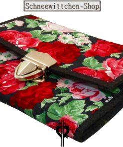 Damen Geldbörse Rosenrot aus Filz