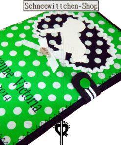 U-Hefthülle mit Baby | grün