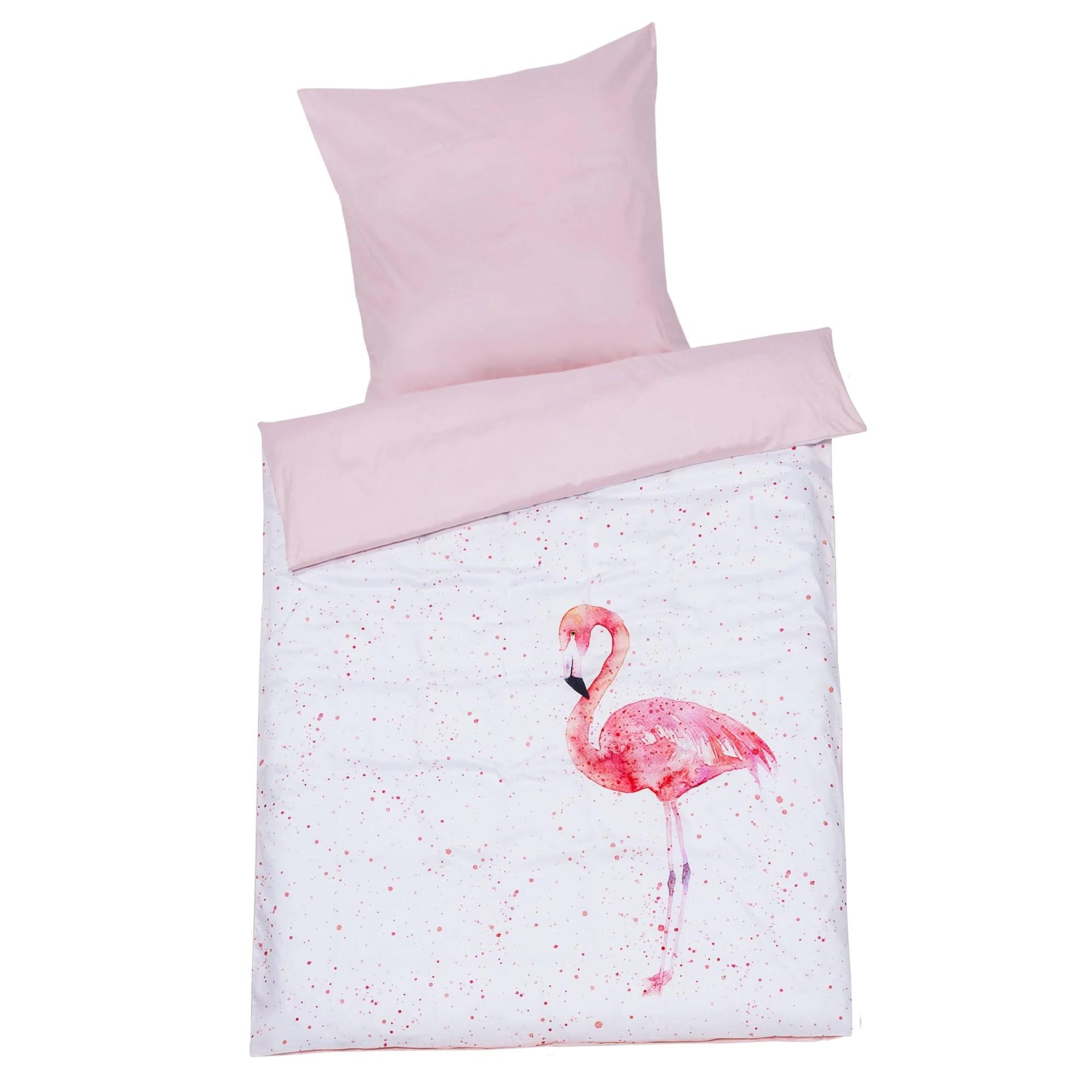 Bettwäsche Flamingo Seersucker Bettwäsche Sympathica