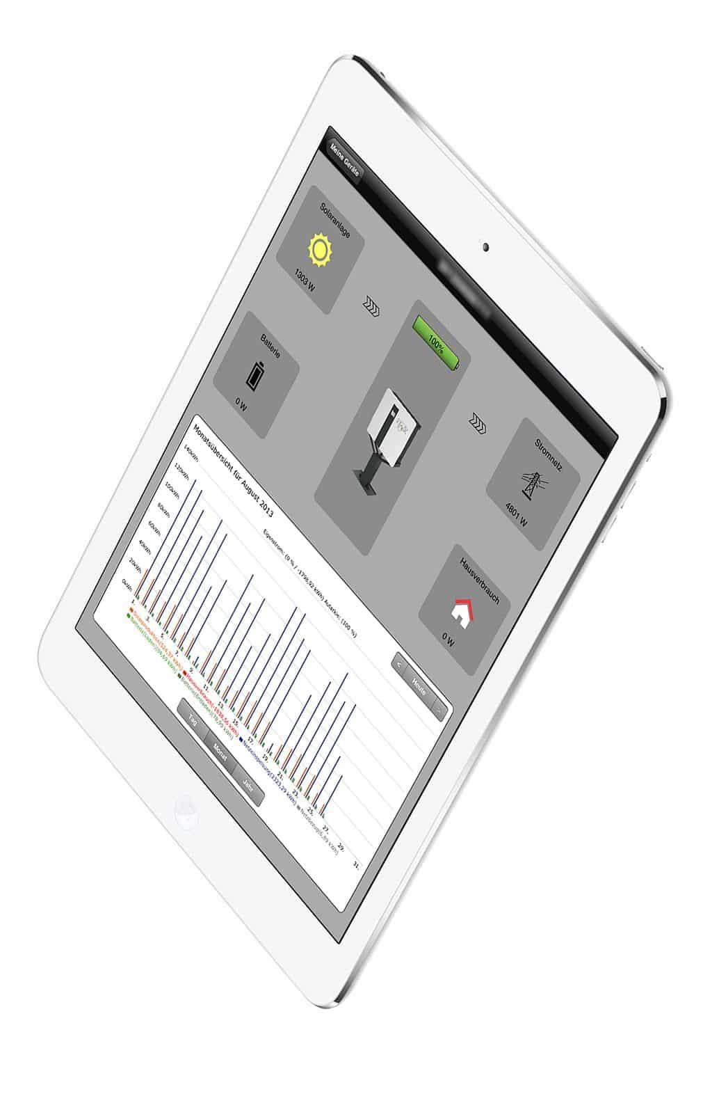 E3DC_iPad-App