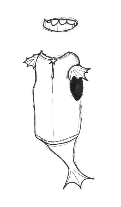 Schnittmuster Nähanleitung Meerjungfrau Kostüm