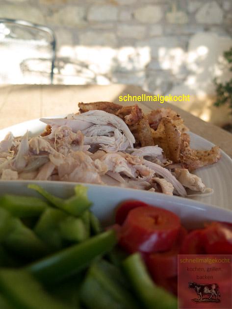 Pulled Chicken Hähnchen