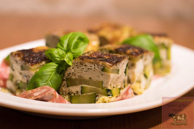 Zucchinifrittata Salami