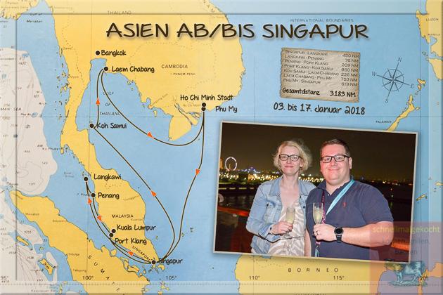 Asienkreuzfahrt 2018: Teil 1 Mein Schiff 1 und Singapur