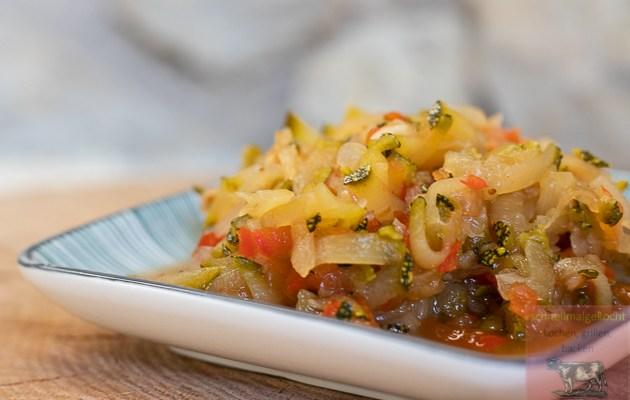 Curry Zucchinisalat süß sauer