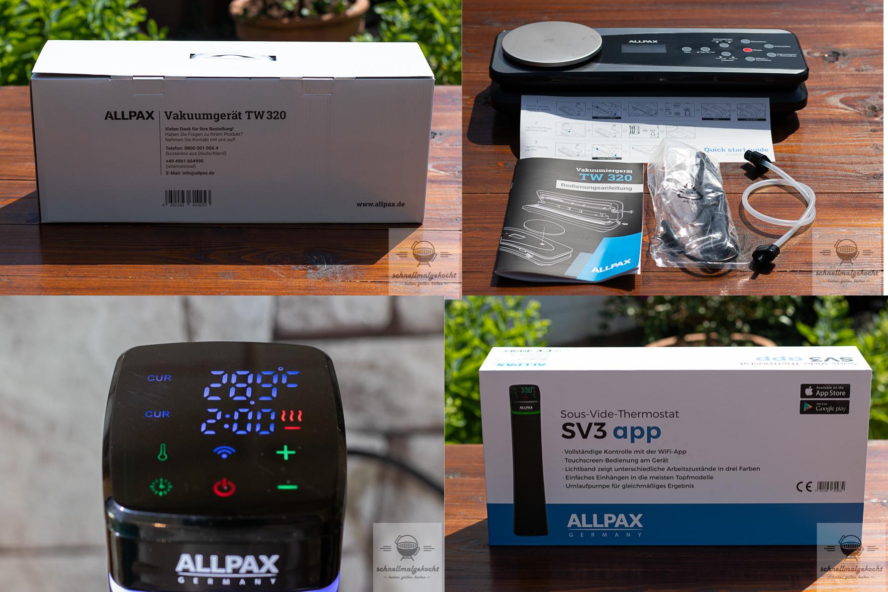 Allpax SV3 Stick und TW320 Vakuumierer