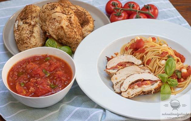 Tomate Mozzarella Hähnchen