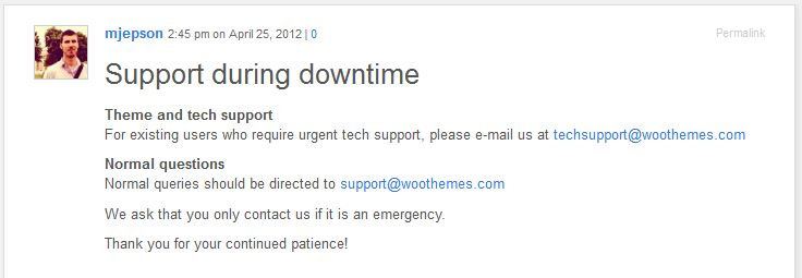 Fantastic Customer Service: Grace Under Destruction - Woothemes (3/4)