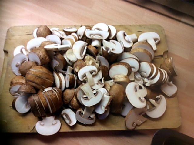 14.1.16 - Rosmarinkartoffeln,Champignon,Baba Ganousch,Avocado,Joghurtspeise (4)