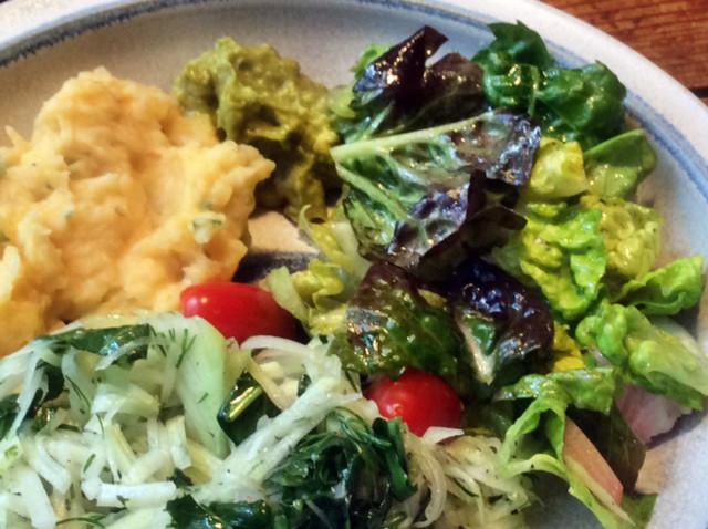 Wurzelstampf,Guacamole,Salate,vegetarisch: