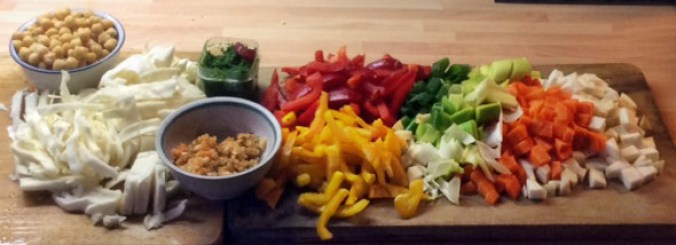 12.3.16 - Kichererbsen-Gemüse Eintopf,Indische Art,vegan (2)