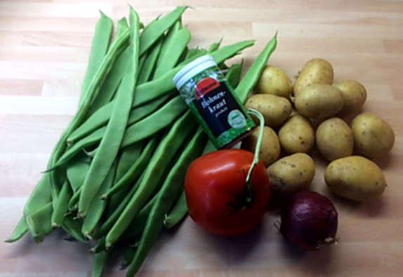 22.3.16 - Bohnen,Kartoffeln,Quarkspeise (3)