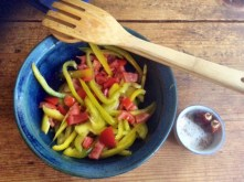 8.3.16 - Zucchini,Paprikasalat,Gurkensalat,Kartoffeln,Spiegelei (7)