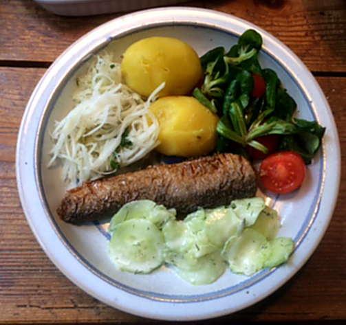 11.4.16 - Brathering,Salate,Kartoffeln,pescetarisch (1)