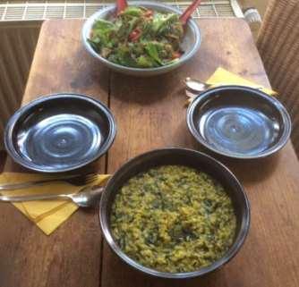 6.4.16 - Spinat Risotto,Salat,vegetarisch (14)