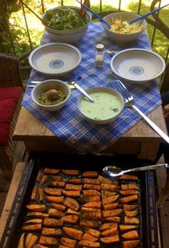 6.5.16 - Süßkartoffel,Fenchelsalat,Feldsalat,Guacamole,Joghurtdip (11)