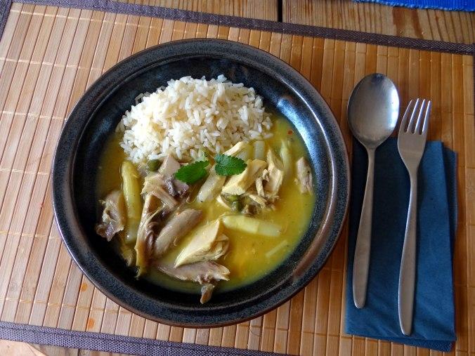 Hühnerfrikassee,Reis (3)