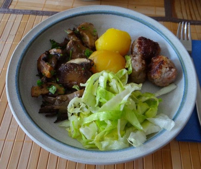 Shitake,Champignon,Hackbällchen,Eisbergsalat (13)