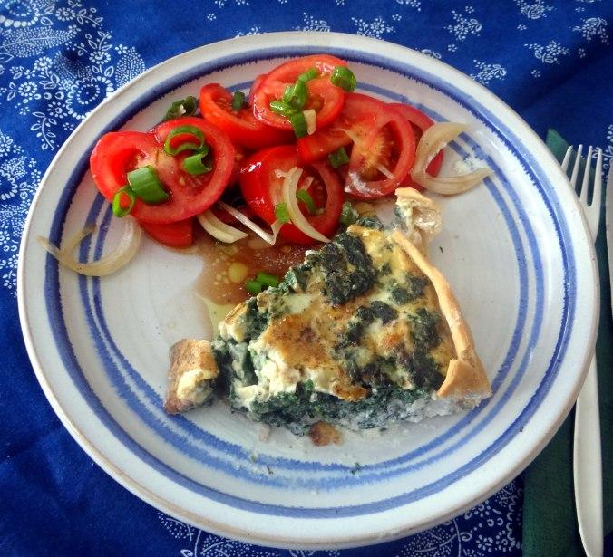 Brennessel Pizza- Quiche-Tarte,Tomatensalat(19)