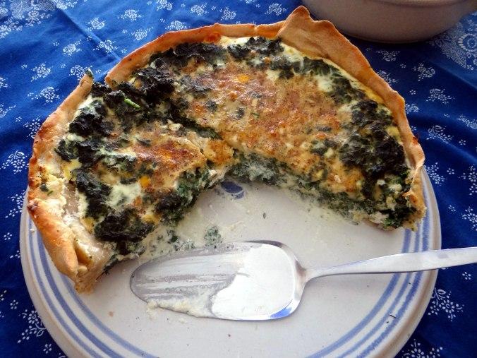 Brennessel Pizza- Quiche-Tarte,Tomatensalat(2)