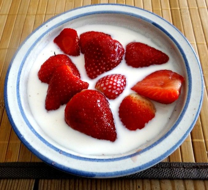 Frikadelle,Champignon,Gurkensalat,Feldsalat,Erdbeeren (21)
