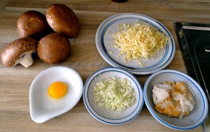 Gefüllte Portobello,Kartoffelstampf mit Rucola,Salate (7)