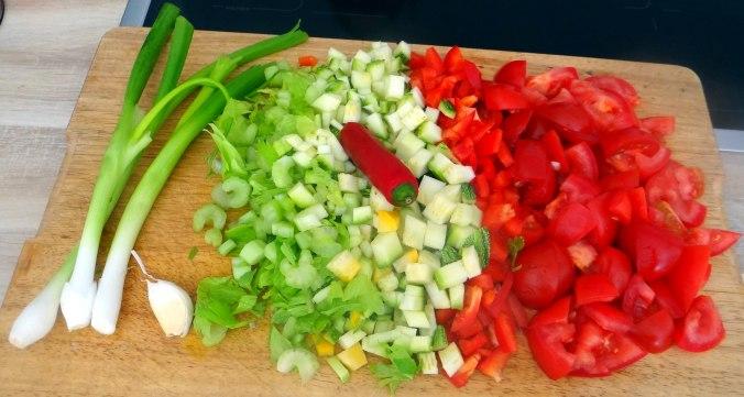 Grüne Nudeln mit Gemüse (6)