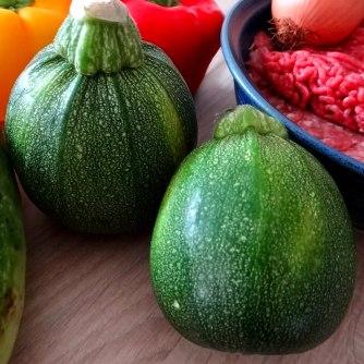 Gefüllte Paprika,Schmorgurke,Tomate,Zucchini,Reis,Bananeneis (8)