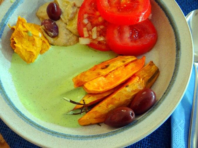 Orientalische Spezialitäten,Baba Ganoush,Süßkartoffel Pommes (3)