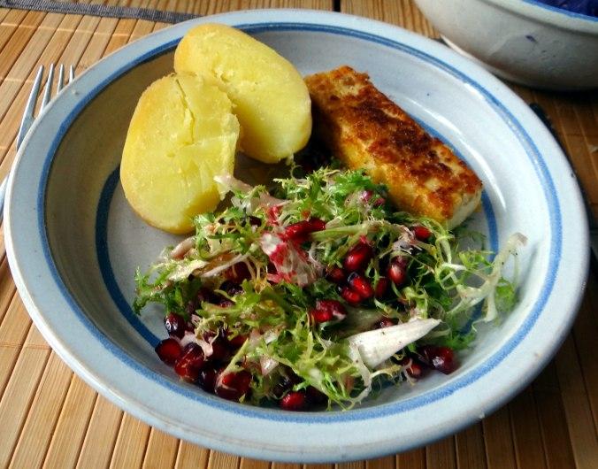 Seidentofu,Frisee Salat,Kartoffel Mix (2)