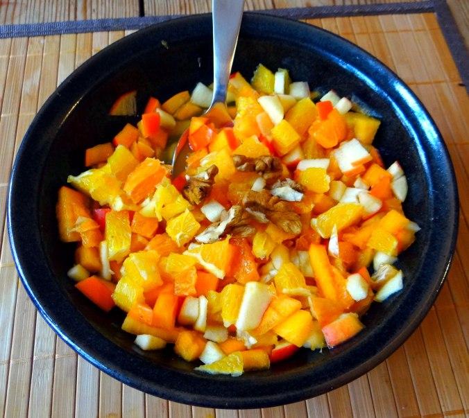 Rote Beete Gemüse,Geräucherte Forelle,Kartoffeln,Obstsalat (4)