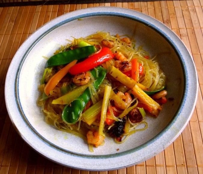 Asiatisches Gemüse mit Garnelen (14)