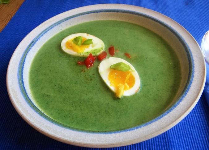 Brennesselsuppe mit Ei (10)