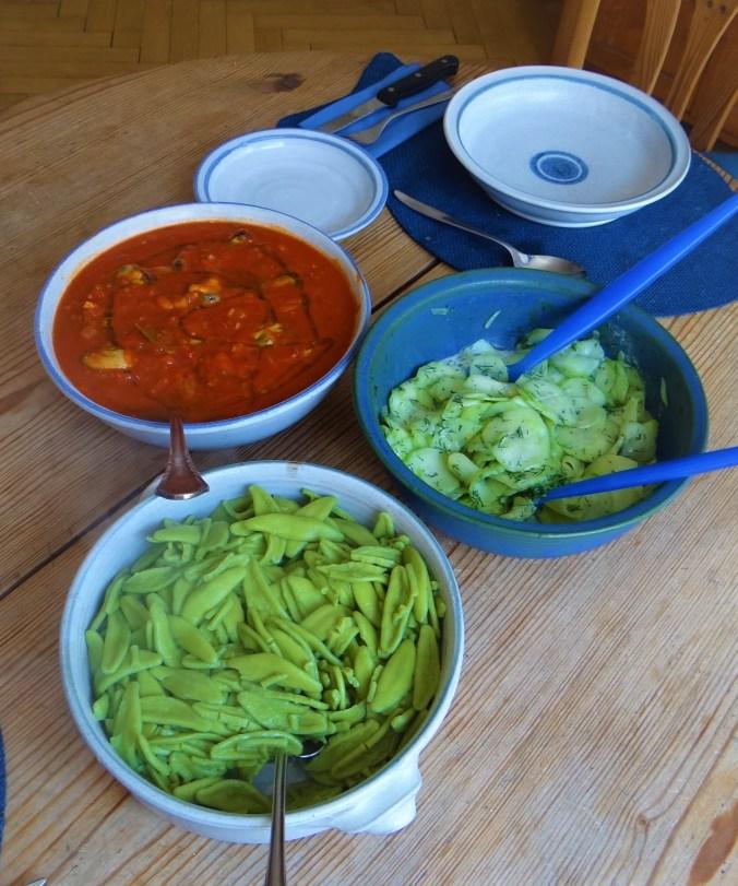 Scharfe Tomatensauce mit Muscheln (14)