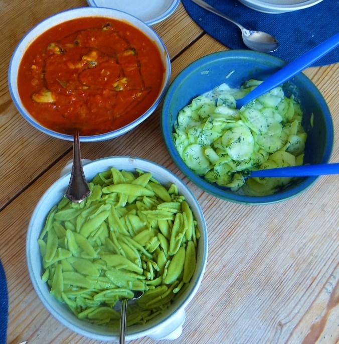 Scharfe Tomatensauce mit Muscheln (5)