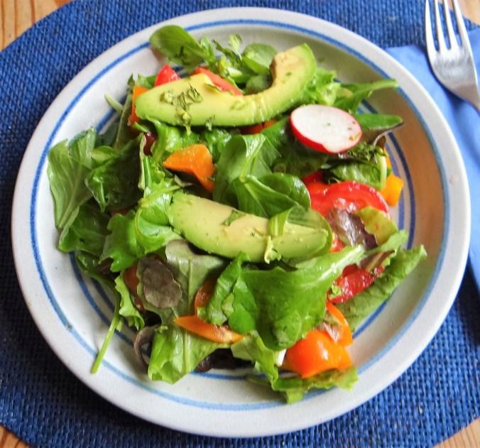 Spinatsuppe,Ricotta Nochen,Bunter Salat (9)