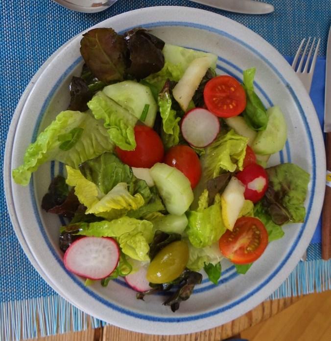Chicoree mit Birnen,Hirse,Bunter Salat,Erdbeeren (14)