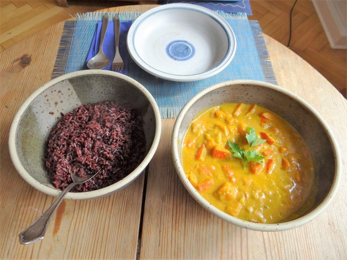 Kürbis Curry mit schwarzem Reis (4)