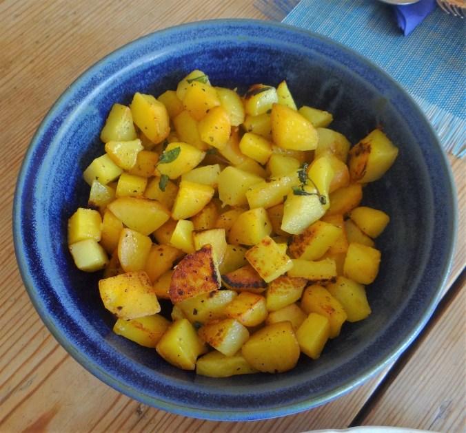 Pilze,Bratkartoffeln mit Majoran (11)