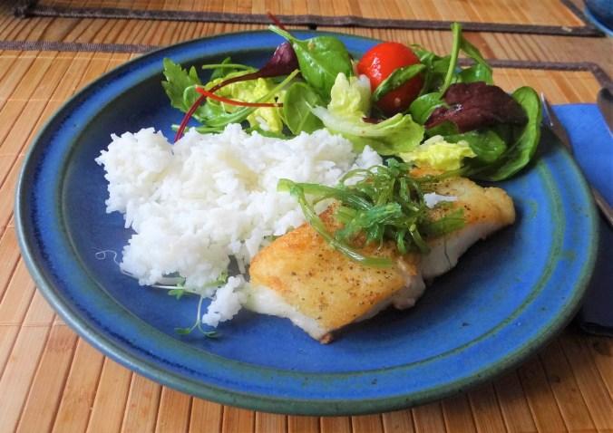 Schwarzer Heilbutt,Algen,Reis,Salat (13)