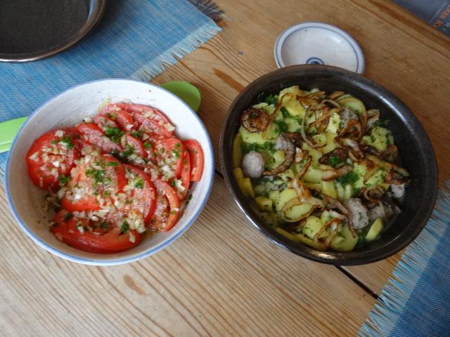 Boullionkartoffeln,Tomatensalat (3)