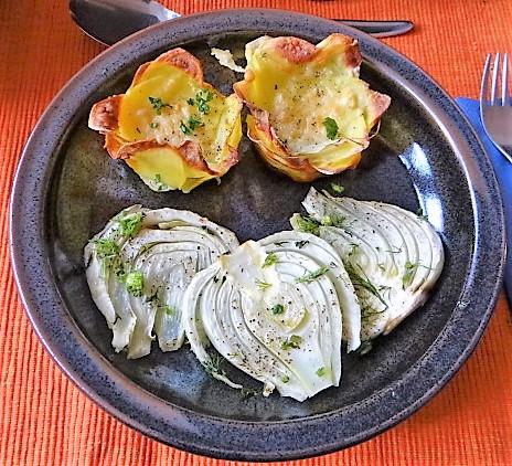 Fenchel und knusprige Kartoffelnester (2)