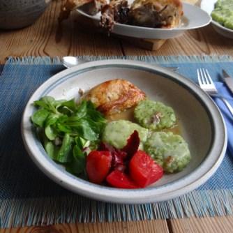 Hähnchen,Bärlauchtaler,Salate (14)